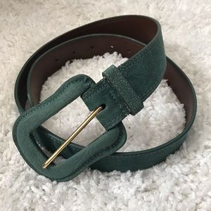 MAX AZRIA Tex Teal Western Style Faux Leather Belt